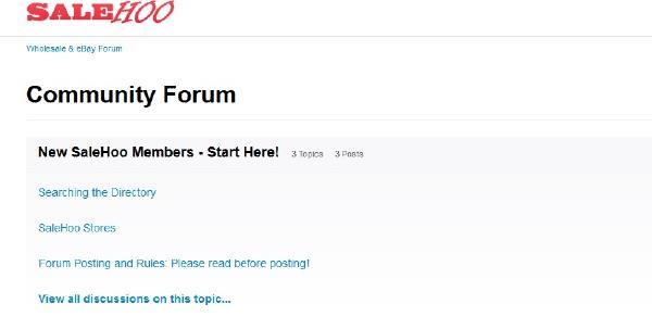 SaleHoo Active Community forum